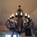 Large Custom Light Fixture Installation in Lakewood