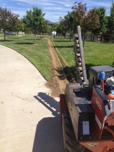 Underground Trenching Electrical Installation